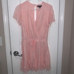 pink dressy romper, NEVER WORN, still with tags